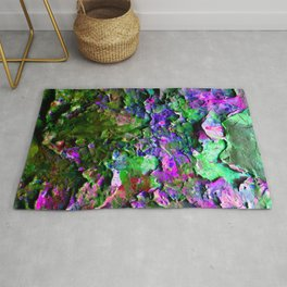 Paint Chips Purple and Green Rug