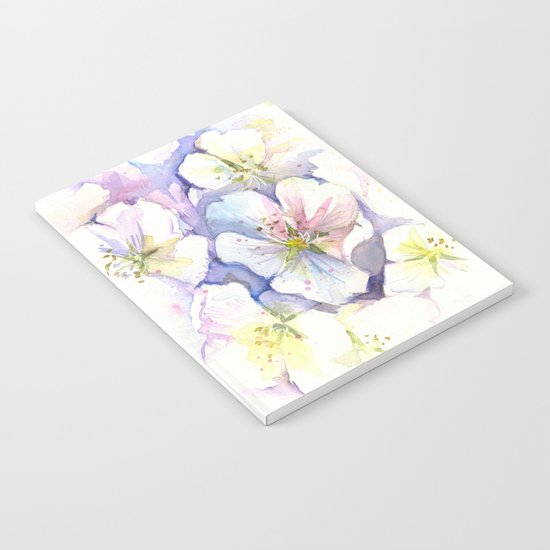 Cherry Blossoms Flowers Spring Floral Notebook