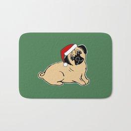 Christmas Pug Bath Mat