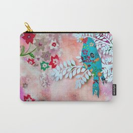 Little bird on branch Carry-All Pouch