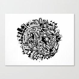 Doodleball Canvas Print