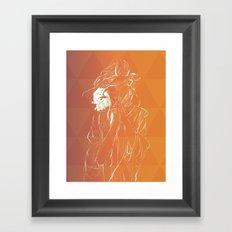 Frambuesas Framed Art Print