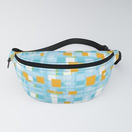 Popping Squares (blue) Fanny Pack