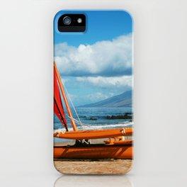 Hina Wāʻapea Sailing Canoe  Polo Beach Wailea Maui Hawaii iPhone Case