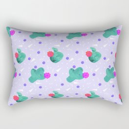 Hello Cactus Lavender Background Rectangular Pillow