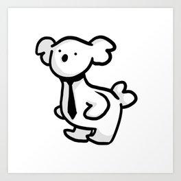 Business Koala Art Print