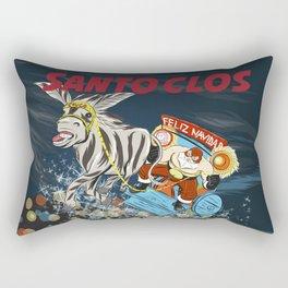 El Santo Clos Rides Again Rectangular Pillow