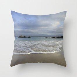 Sea foam on Reflective Sand Throw Pillow