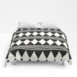 Simple mudcloth diamonds and lines Comforters
