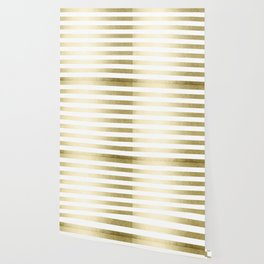 Simply Striped Gilded Palace Gold Wallpaper