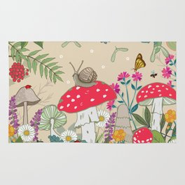 Toadstools in the Woods Rug