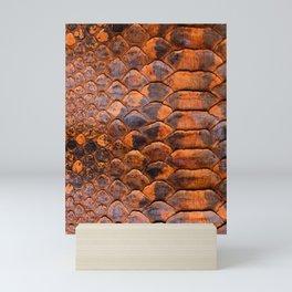Abstract Orange Snakeskin Scales from Python Mini Art Print