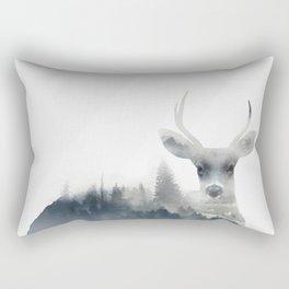 Fearless  winter deer Rectangular Pillow