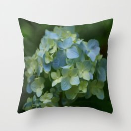 Blue Hydrangea - Painterly Style Throw Pillow