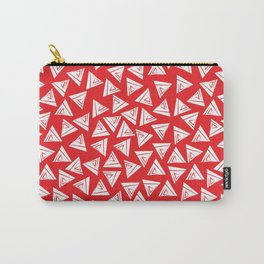 Triangle red and white Carry-All Pouch
