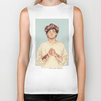 coconutwishes Biker Tanks featuring Tommo Flower crown by Coconut Wishes
