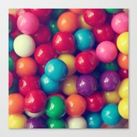 gumball Canvas Prints featuring Gumball Fun by Amelia Kay Photography