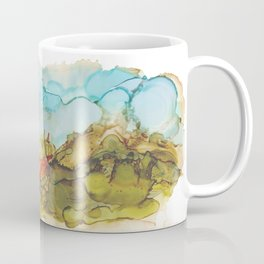 Alcohol Ink Abstract Landscape Farmland Sunset Coffee Mug