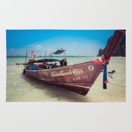 Longtail Boat on Phi Phi Island Thailand Rug