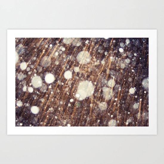 Snow talk Art Print