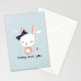 RABBIT BUNNY CARTOON Stationery Cards