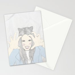 Cat girl Stationery Cards