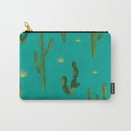 Desert Vibes Teal Carry-All Pouch