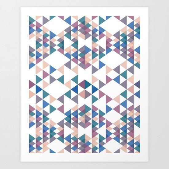 Tri-angles Art Print