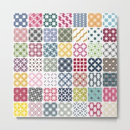 Colorful patchwork from geometric shapes Metal Print