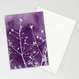 Ultra Violet Botanical Art Stationery Cards