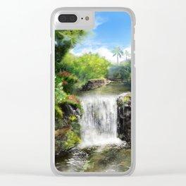 Hawaiian  Garden Clear iPhone Case