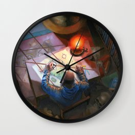 The Mapmaker  Wall Clock