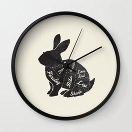 Rabbit Butcher Diagram Wall Clock