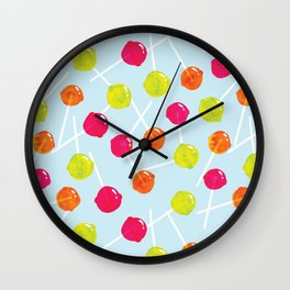 Watercolour Lolly Pops, Watercolor Popsicles Wall Clock