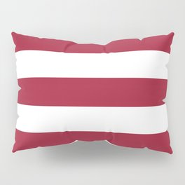 University of Alabama Crimson - solid color - white stripes pattern Pillow Sham