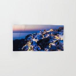 Santorini Island NightView Greece Hand & Bath Towel
