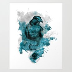 Eagle- turquoise  Art Print