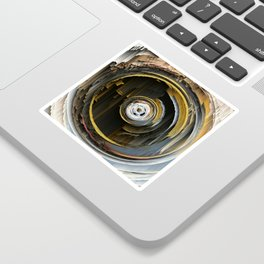 Target Rings: digital abstraction Sticker