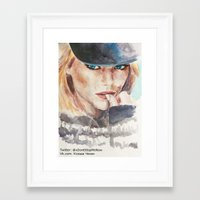 emma stone Framed Art Prints featuring Emma Stone, blonde by xDontStopMeNow