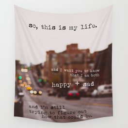perks of being a wallflower - happy + sad Wall Tapestry