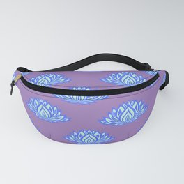 Lotus Pattern Violet/Lila Fanny Pack