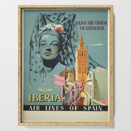 Vintage poster - Spain Serving Tray