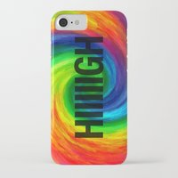 2pac iPhone & iPod Cases featuring High by Text Guy