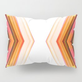 Side by Side - Red Orange Futuristic Geometric Abstract Pillow Sham