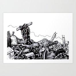 Inktober: Filthy Art Print