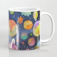 planet Mugs featuring Planet by Michaella Fonseca