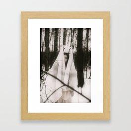 """""""Jak zimny wiatr wśród drzewami..."""" Framed Art Print"""