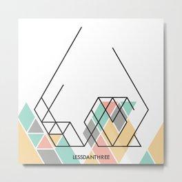 LessDanThree Brand Identity Metal Print