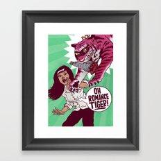 Oh Romance Tiger! Framed Art Print