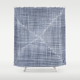 Ink Weaves: Sapphire Shower Curtain